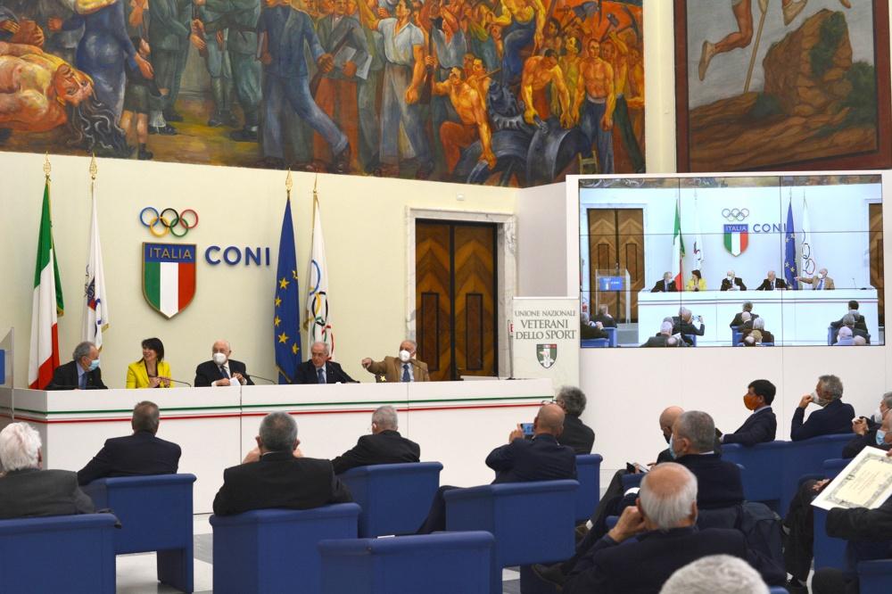 Il Salone d'Onore al Palazzo H del CONI a Roma