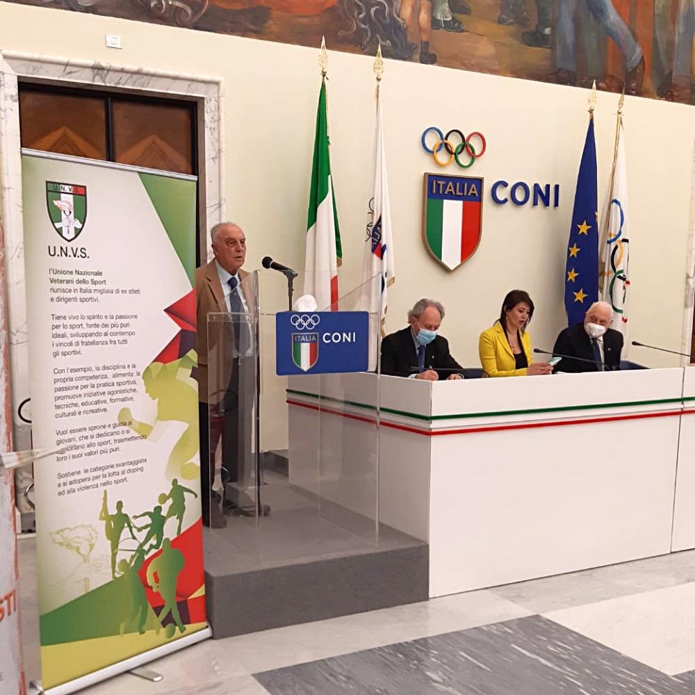 Ettore Biagini durante il suo discorso - 13 Marzo 2021, Roma