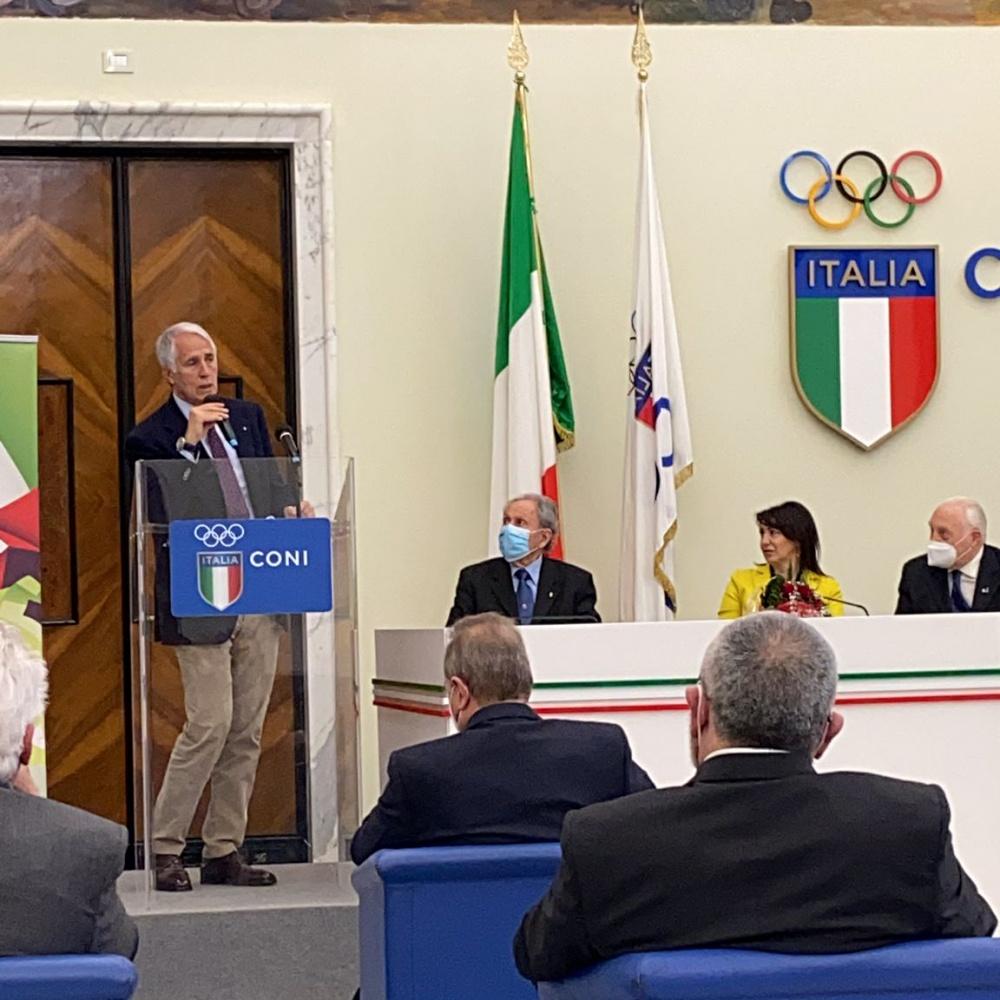 Giovanni Malagò nel suo saluto alla platea - 13 Marzo 2021, Roma